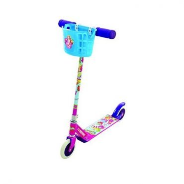 Shopkins In-line Scooter with basket and 6 Collectables (5+ years old)
