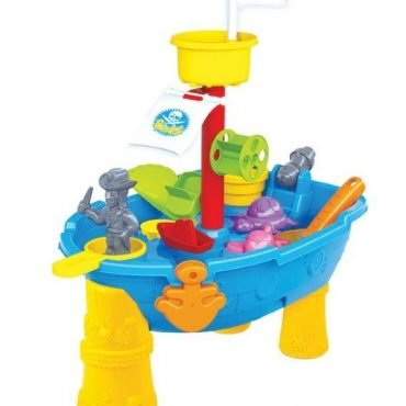 Large Pirate Ship water & Sand Play Table (24 pieces) (3+ years old)